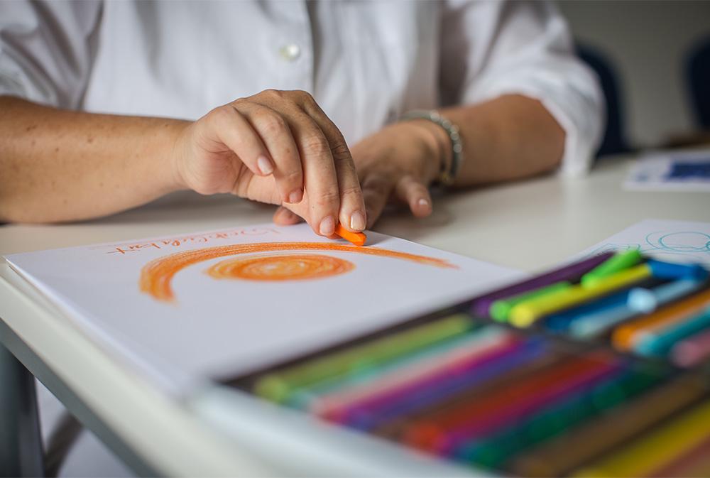 Geführtes Zeichnen und Farbdialog